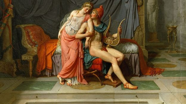 'Os Amores de Paris e Helena', de Jacques Louis David (1748-1825)