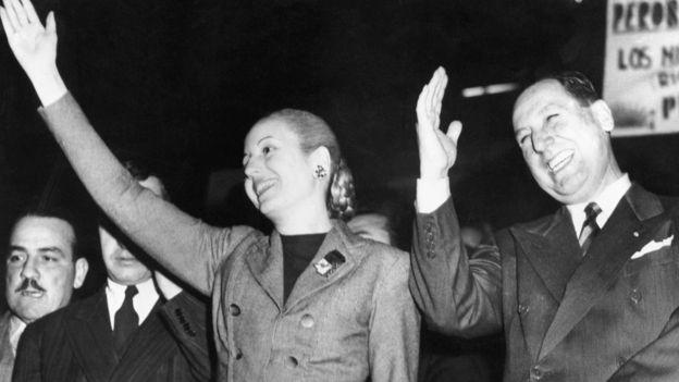 Evita y Perón