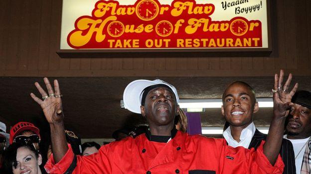 Flava Fav en su restaurante