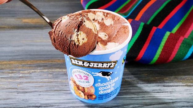 A tub of Ben & Jerry's Moo-phoria ice cream