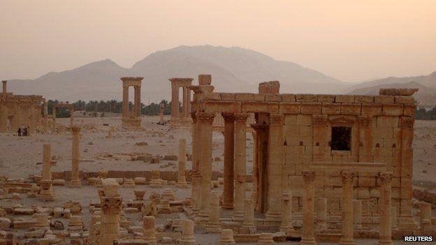 Temple of Baal Shamin at sunset
