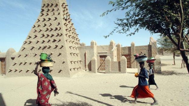 The Djingareyber Mosque in Timbuktu