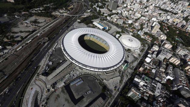 Estádio do Maracanã, no Rio, visto por cima