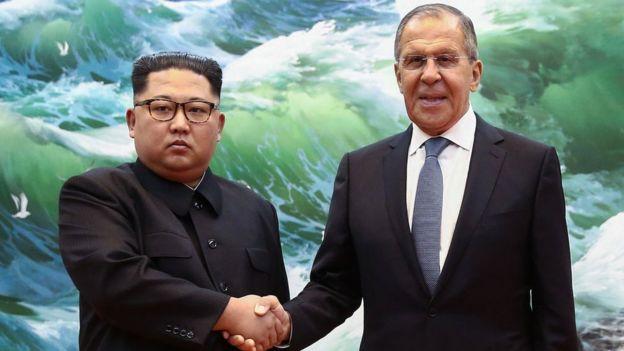 Kim y Lavrov