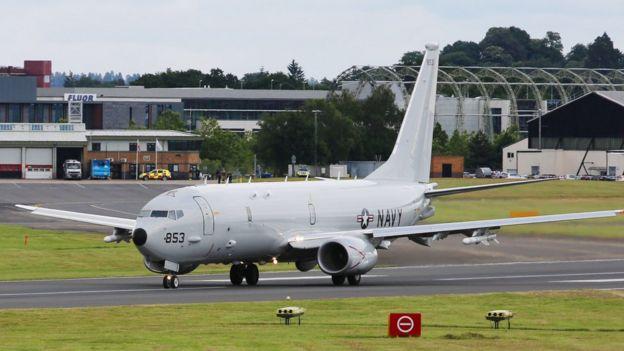 新西兰将购买四架P-8A巡逻机,图为美国海军的同型号飞机。