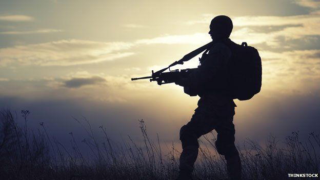 Soldier on exercise