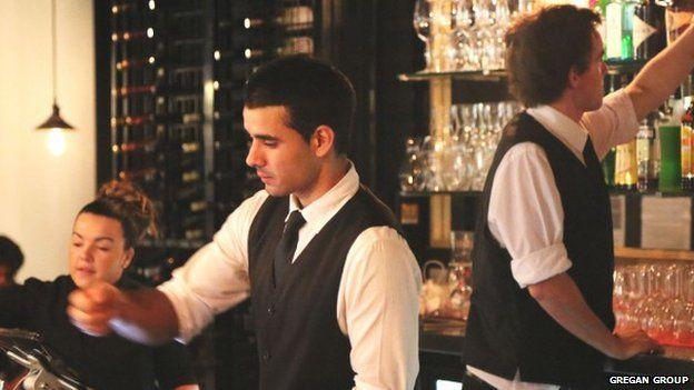 Bar staff at the Gregan Group's Lobby Bar