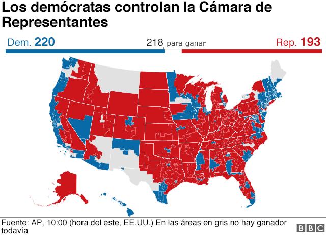 Mapa de la Cámara de Representantes