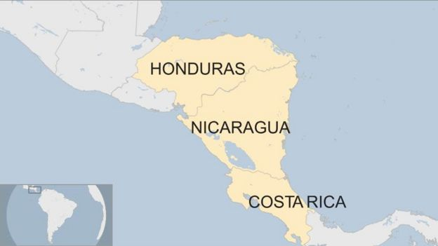 Where Is Nicaragua Located On A World Map.Storm Nate At Least 22 Dead In Costa Rica Nicaragua And Honduras