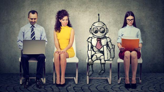 Pessoas e robô