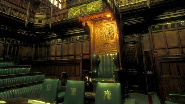 Speakers chair inside the House of Commons