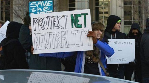 Manifestación en Estados Unidos