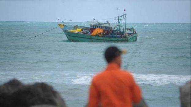 Bentuk kapal seperti ini yang kerap digunakan menyeludupkan imigran