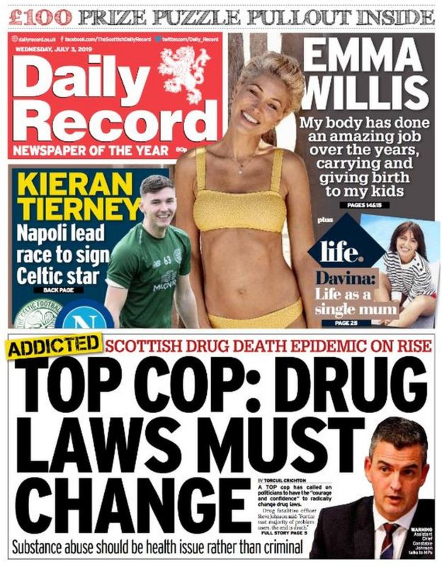 Scotland's papers: May's devolution 'review' and drugs war