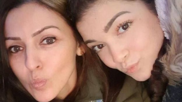 Giselle Marimon-Herrera ve kızı Allison
