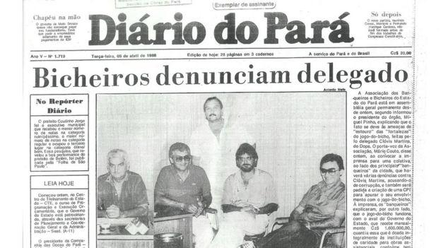 Capa de jornal do Pará nos anos 1980