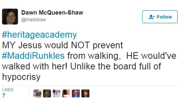 screengrab of madshaw's tweet
