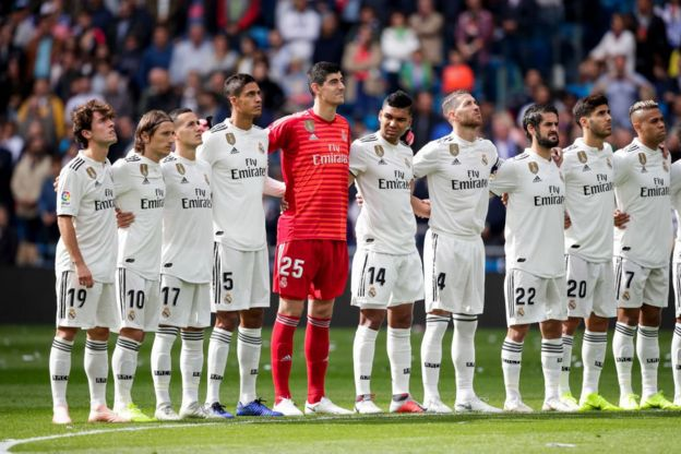 Jugadores del Real Madrid