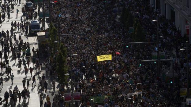 Protesta por Madrid Central