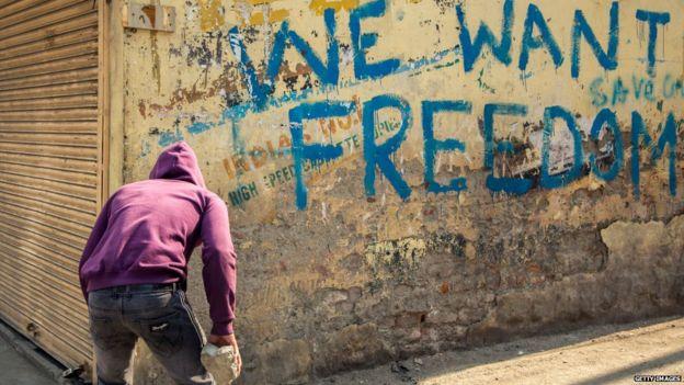 कश्मीर में 370 निरस्त होने के बाद
