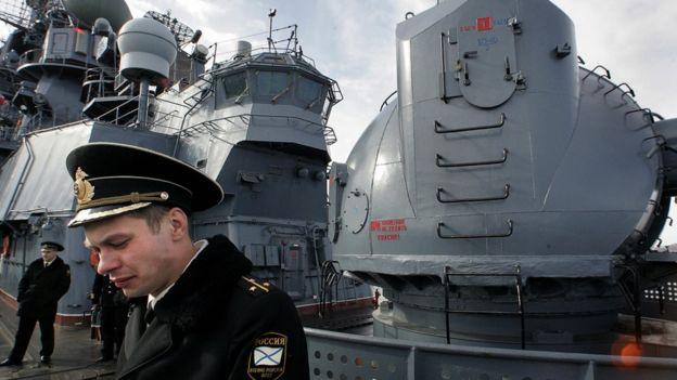 Soldado de la Flota del Norte de Rusia.