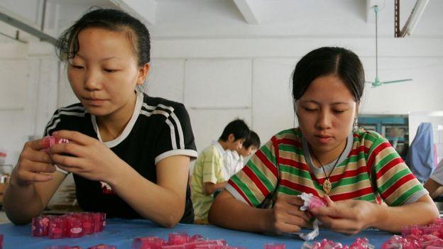中国工厂女工