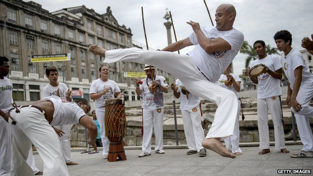 Players of Capoeira in Brazil