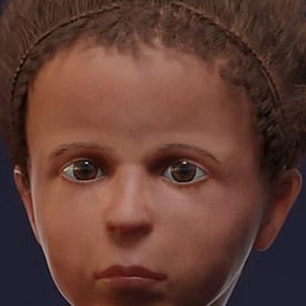 إعادة بناء رقمي ثلاثي الأبعاد لوجه الطفل