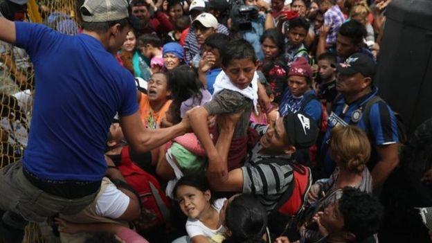 Frontera de México y Guatemala.