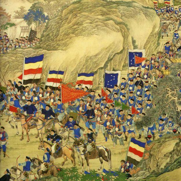 Тайпинское восстание было подавлено при помощи британских и французских войск