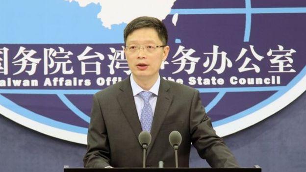 國台辦新聞發言人安峰山(資料圖片)