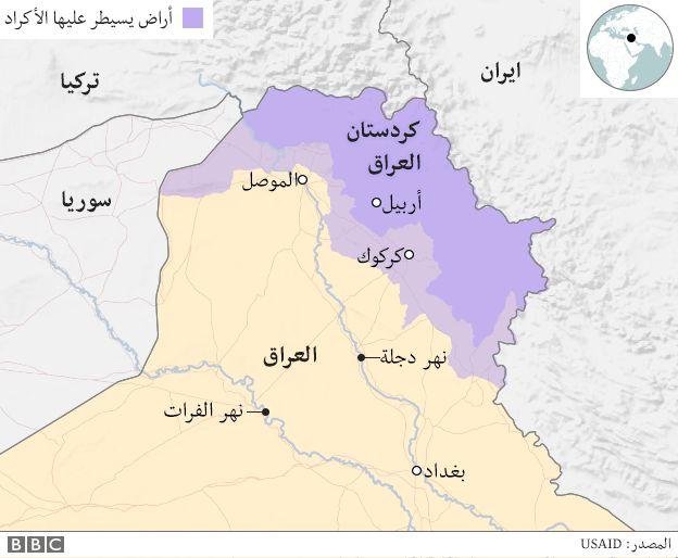 خارطة اقليم كردستان