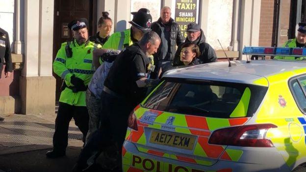 Stuart Potts's arrest