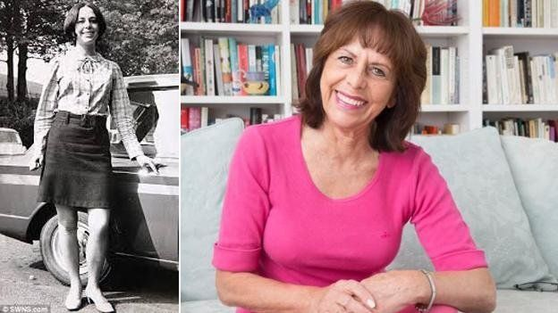 Liz Hodgkinson in 1966 and today