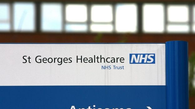 A general view of St George's Hospital in Tooting, one of the hospitals run by St George's NHS Trust