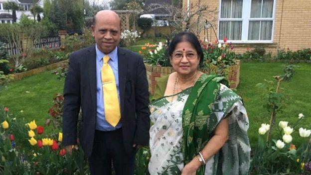ড. সুনীল রায় ও তার স্ত্রী শিপ্রা রায়। দুজনেই করোনাভাইরাসে আক্রান্ত হয়েছিলেন।