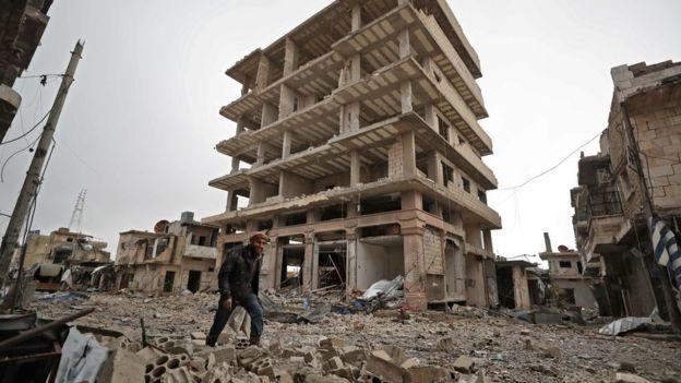 جانب من الدمار في سوريا