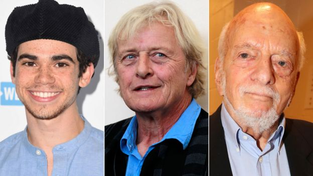 Cameron Boyce, Rutger Hauer and Hal Prince