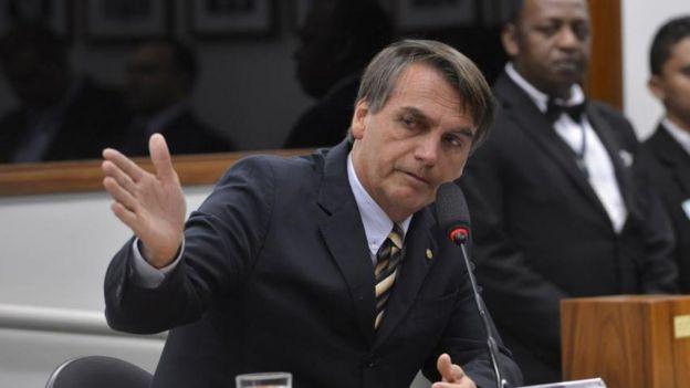 Jair Bolsonaro em sessão na Câmara