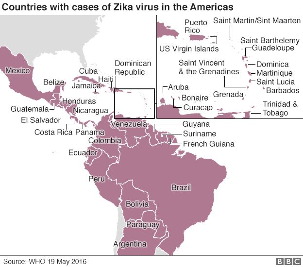 Zika virus: Risk of spread from Olympics 'very low' says WHO - BBC on world map prague, world map bolivia, world map mexico, world map honduras, world map puerto rico, world map brazil, world map nicaragua, world map taiwan, world map costa rica, world map haiti, world map indonesia, world map caracas, world map peru, world map belize, world map maldives, world map congo, world map netherlands, world map trinidad, world map pakistan, world map sri lanka,