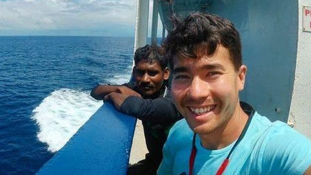 John Chau em um barco
