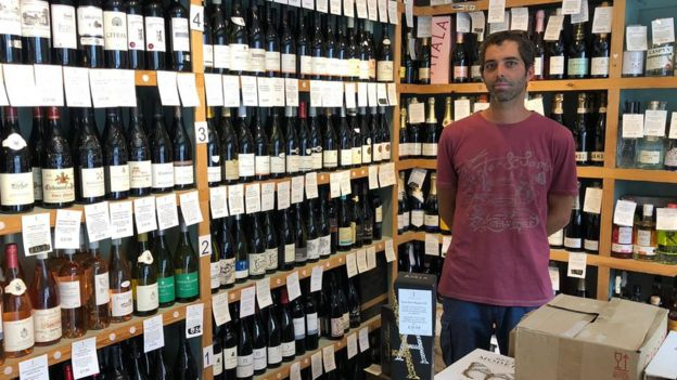 Ezequiel Gomez-Gibson, manager at Cambridge Wine Merchants