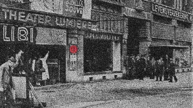 """Место взрыва возле кинотеатра """"Люмьер"""""""