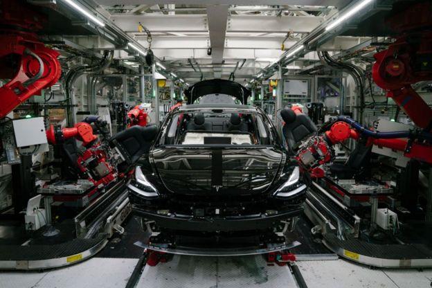 Tesla Model 3 на фабрике. Калифорния, июль 2018 года.
