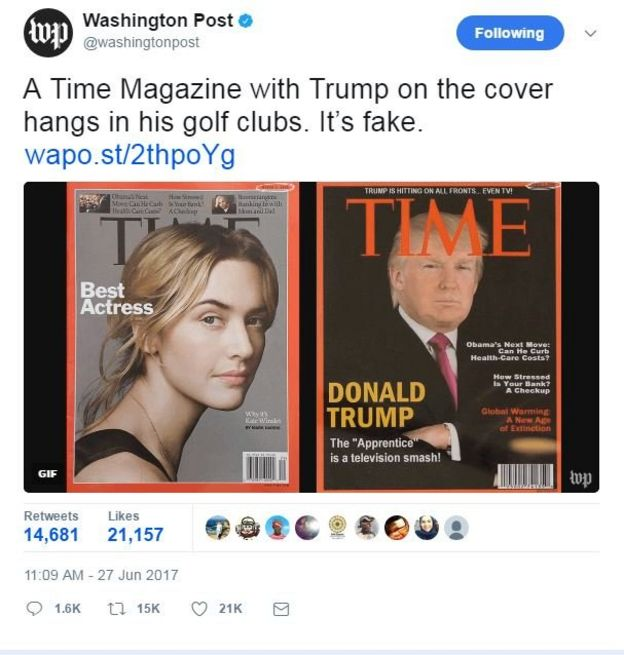 Image result for trump time magazine fake