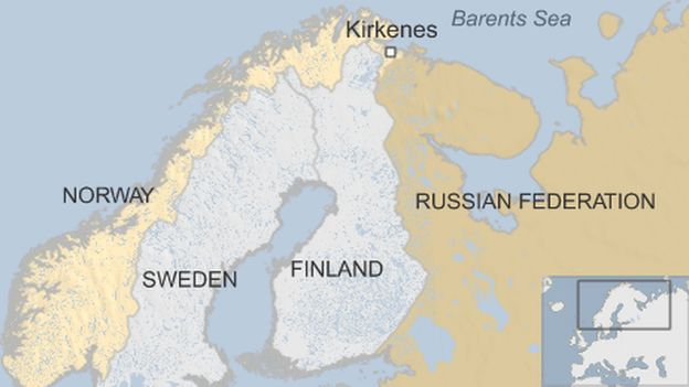 Norwegians Laugh At New Fence On Russian Border BBC News - Sweden russia map