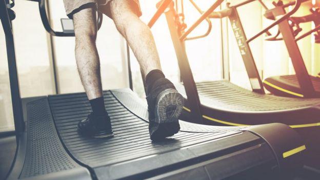 Man in a runner.