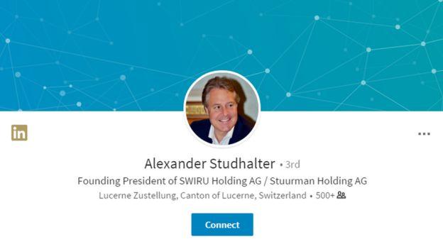 Профиль Александра Штудхальтера в соцсети LinkedIn