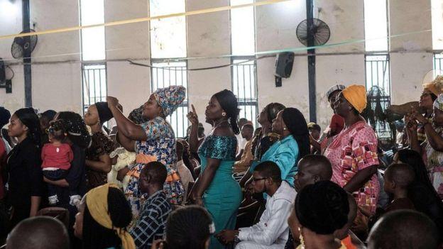 Celebración religiosa en Nigeria