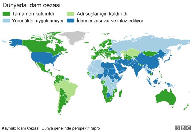İdam cezası haritası